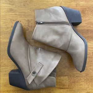 NWOT Blowfish Tan Heeled Ankle Boots